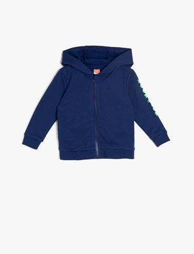 Koton Kids Kapüşonlu Sweatshirt Lacivert